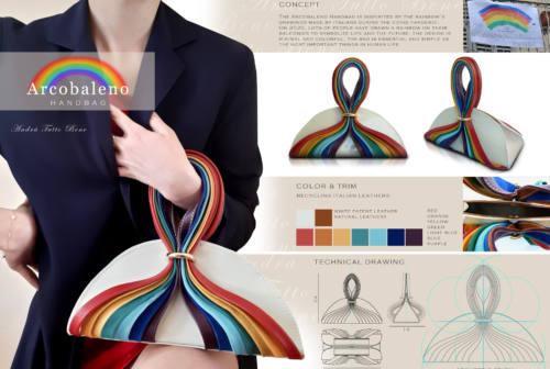 La borsa Arcobaleno della designer jesina Valeria Zingaretti tra i finalisti del concorso internazionale DAB