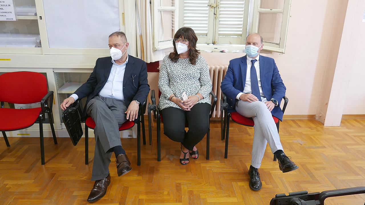 I nuovi primari per l'ospedale di Senigallia. Da sinistra Marco Agostinelli, Cristina Scala, Antonio Di Sario