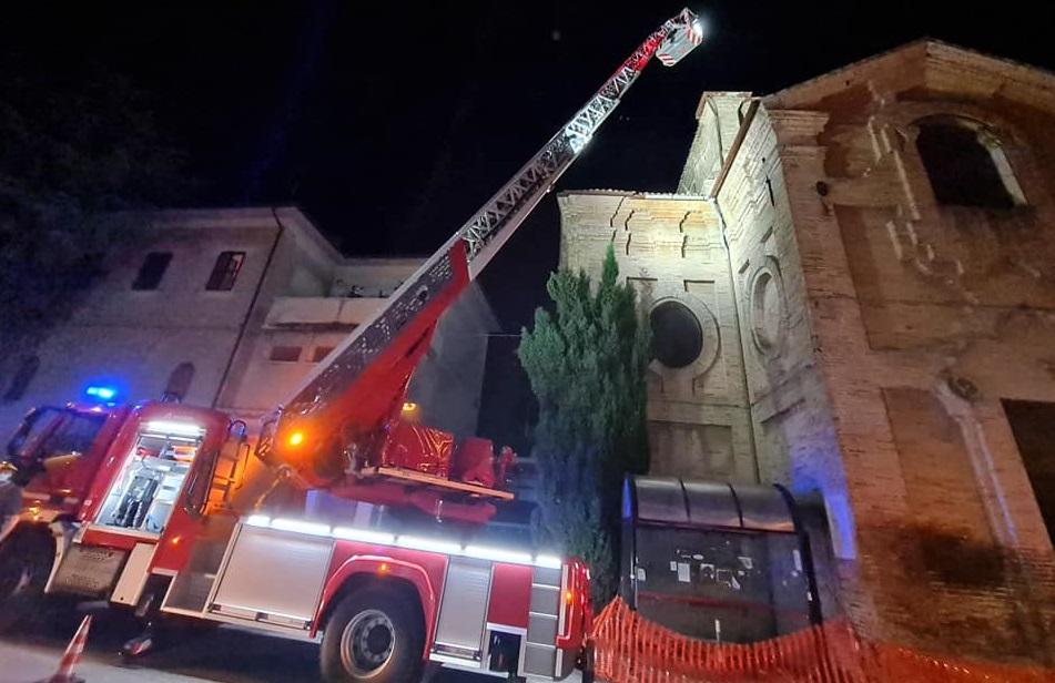 L'intervento alla chiesa della Misericordia di Osimo