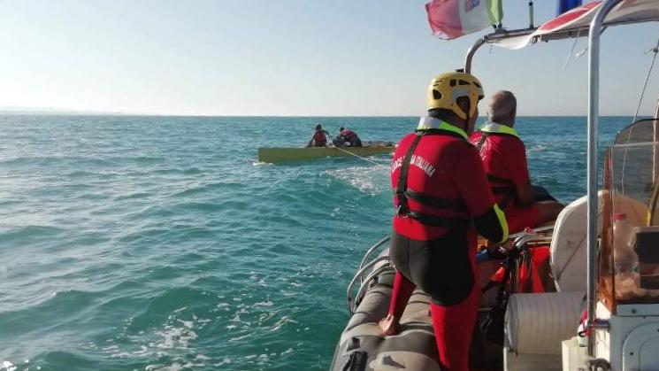 Gli operatori Opsa del comitato di Senigallia della Croce Rossa Italiana, abilitati al salvataggio in mare