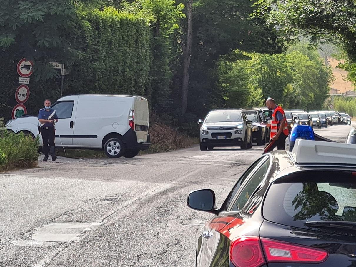 L'incidente in via Sbrozzola