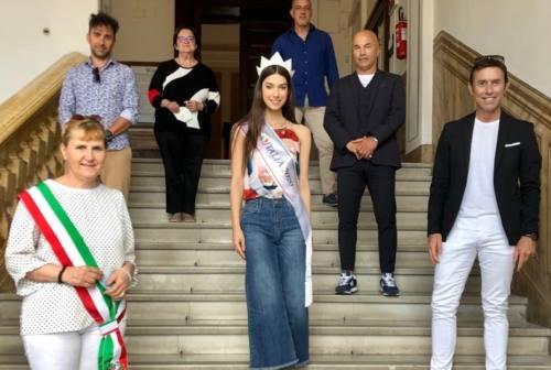 Miss Italia Martina Sambucini a Filottrano per lanciare la tappa marchigiana del concorso di bellezza