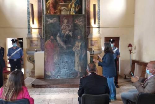 Osimo, restituita al proprietario la tela rubata 27 anni fa dalla chiesa di San Filippo a Casenuove