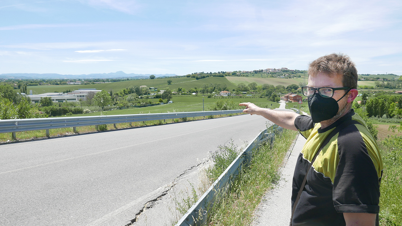 Guliano Pallotto, uno dei residenti impegnati per modificare il progetto della bretella di Montemarciano
