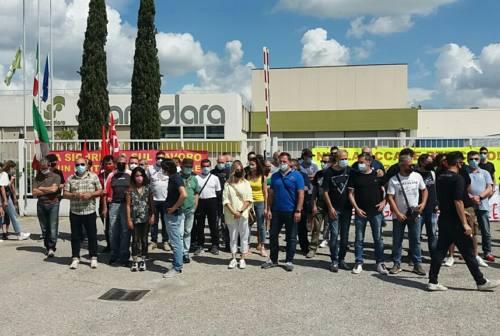 Ascoli, rabbia e dolore degli operai alla Scandolara: sit-in per la morte del collega
