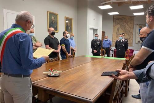 Caldarola, salvò un 87enne da un incendio: un attestato al carabiniere Patrizio Tosti