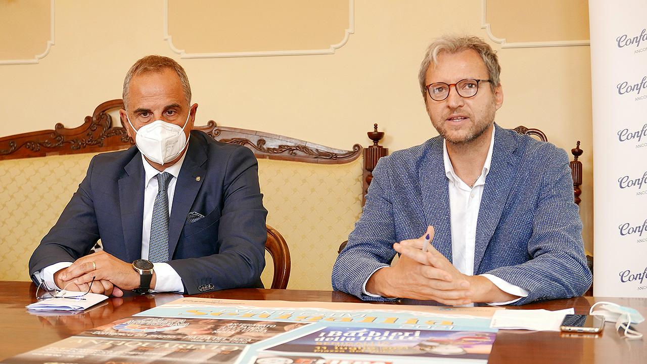 Da sinistra: Marco Pierpaoli, segretario Confartigianato Ancona-Pesaro Urbino e Giacomo Cicconi Massi, responsabile Confartigianato Senigallia