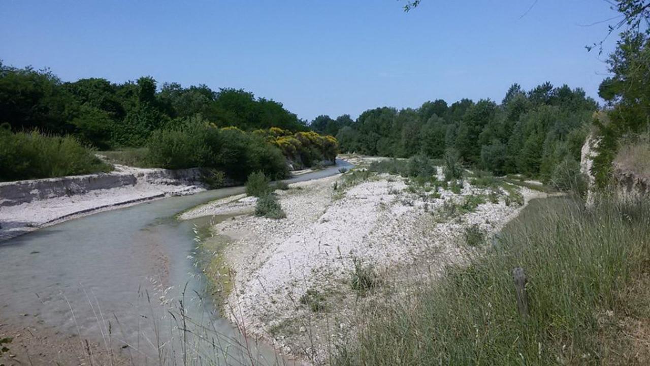 Il fiume Cesano a Senigallia
