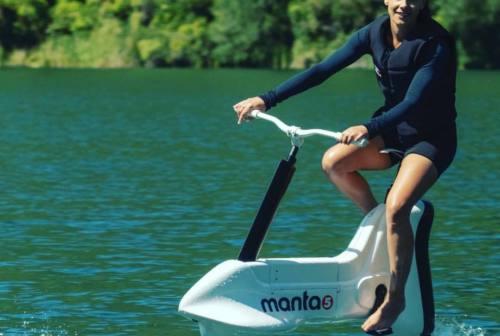 Pesaro, arriva la bicicletta sull'acqua per godersi le meraviglie del San Bartolo