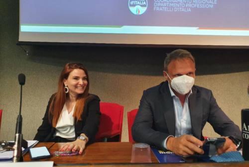 Lollobrigida, tavolo permanente delle professioni nelle Marche. Sulle amministrative: «Il centrodestra si presenterà compatto»