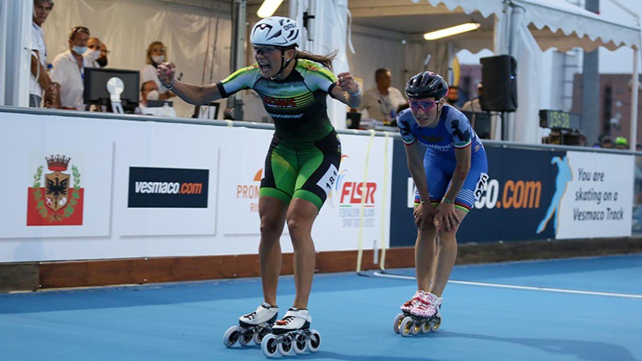 La vittoria di Linda Rossi agli Italian Roller Games sulla pista di pattinaggio di Senigallia