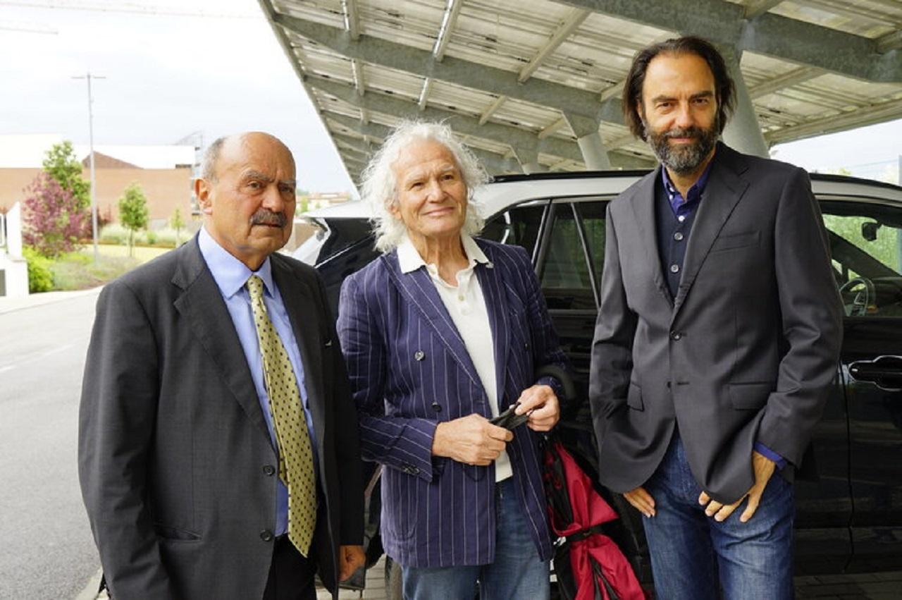 Da sinistra: Bartoli, Rocchetti e Marcorè al Filo d'oro