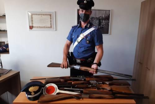 Pollenza, sette fucili detenuti irregolarmente. Denunciato un 48enne