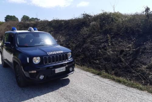 Genga, aveva appena appiccato un incendio ma i carabinieri spengono il rogo: denunciato 25enne