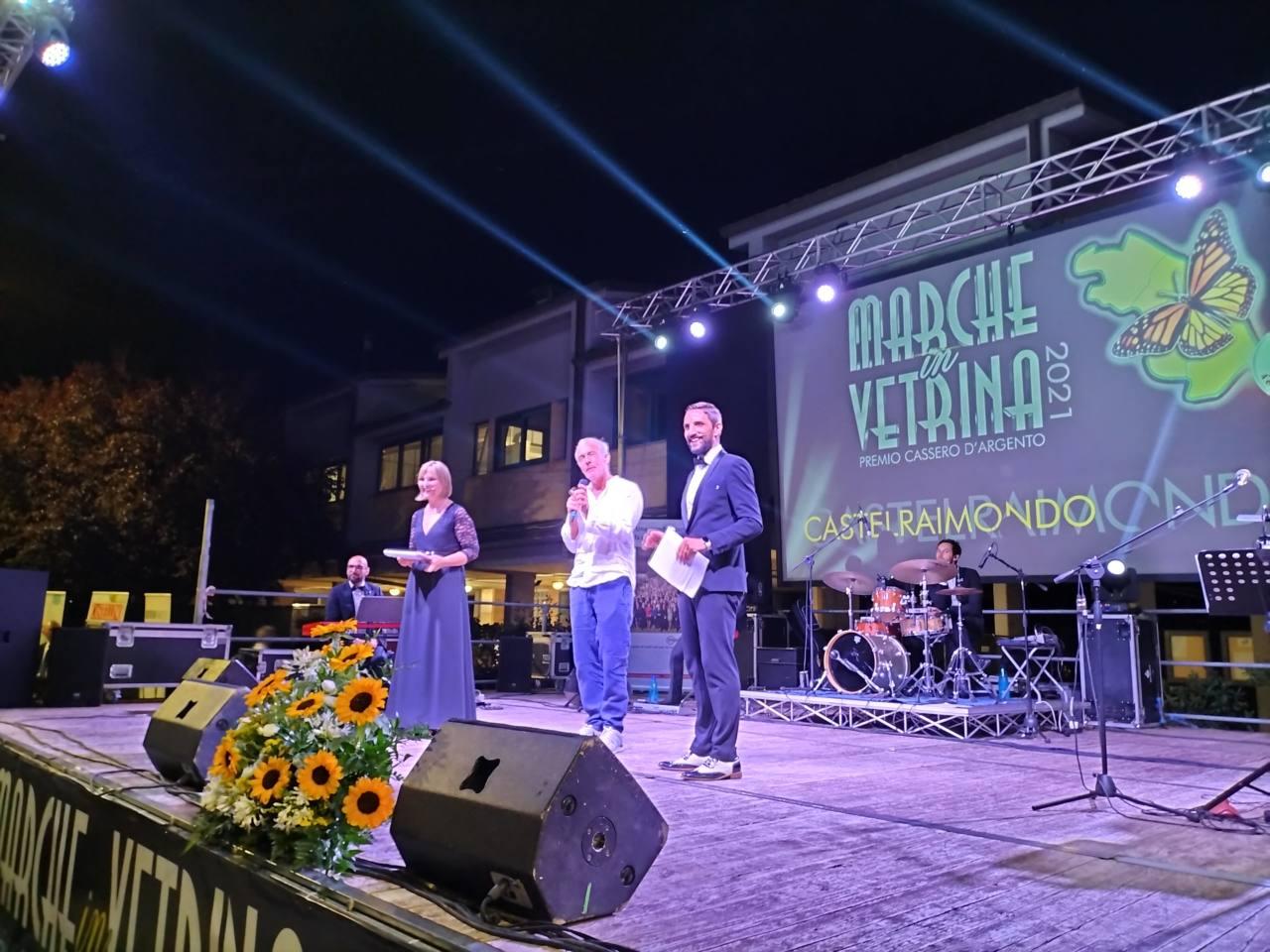 Massimo Giletti sul palco