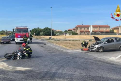 Senigallia, incidente stradale a borgo Catena: centauro all'ospedale