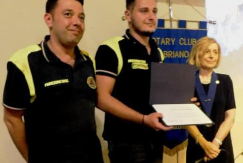 Il Rotary Club di Fabriano premia la Protezione civile e nomina il nuovo Presidente