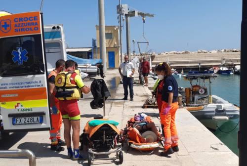 Sirolo, scivola sullo stradello per San Michele: turista 73enne trasportata d'urgenza a Torrette