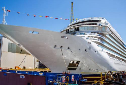 Ancona, varata la nuova nave da crociera Viking Mars di Fincantieri