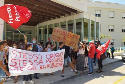 Sanità privata, ad Ascoli protesta dei dipendenti del Santo Stefano: «Contratto scaduto da 10 anni»
