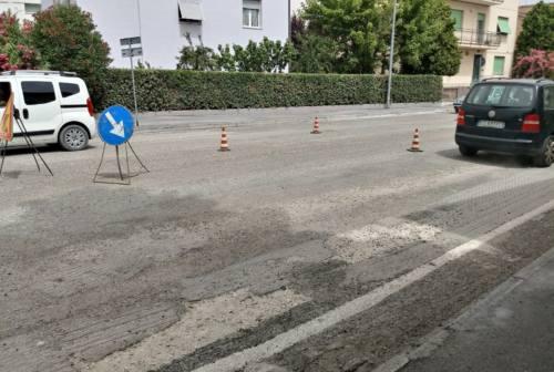 Jesi, asfaltature al via lungo l'Asse sud: rallentamenti alla circolazione