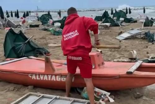 Una violenta mareggiata e una tromba d'aria: i danni al litorale di Montemarciano e Falconara Marittima
