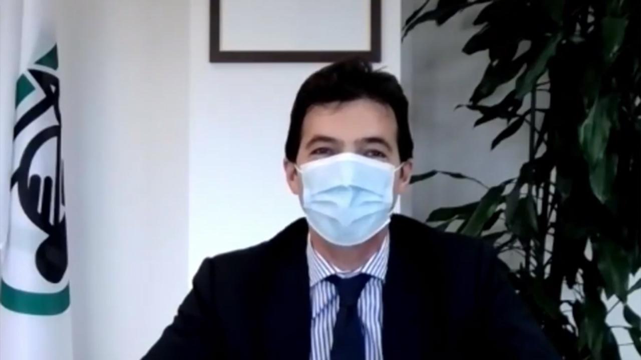 Francesco Acquaroli all'iniziativa Come In - La porta del digitale