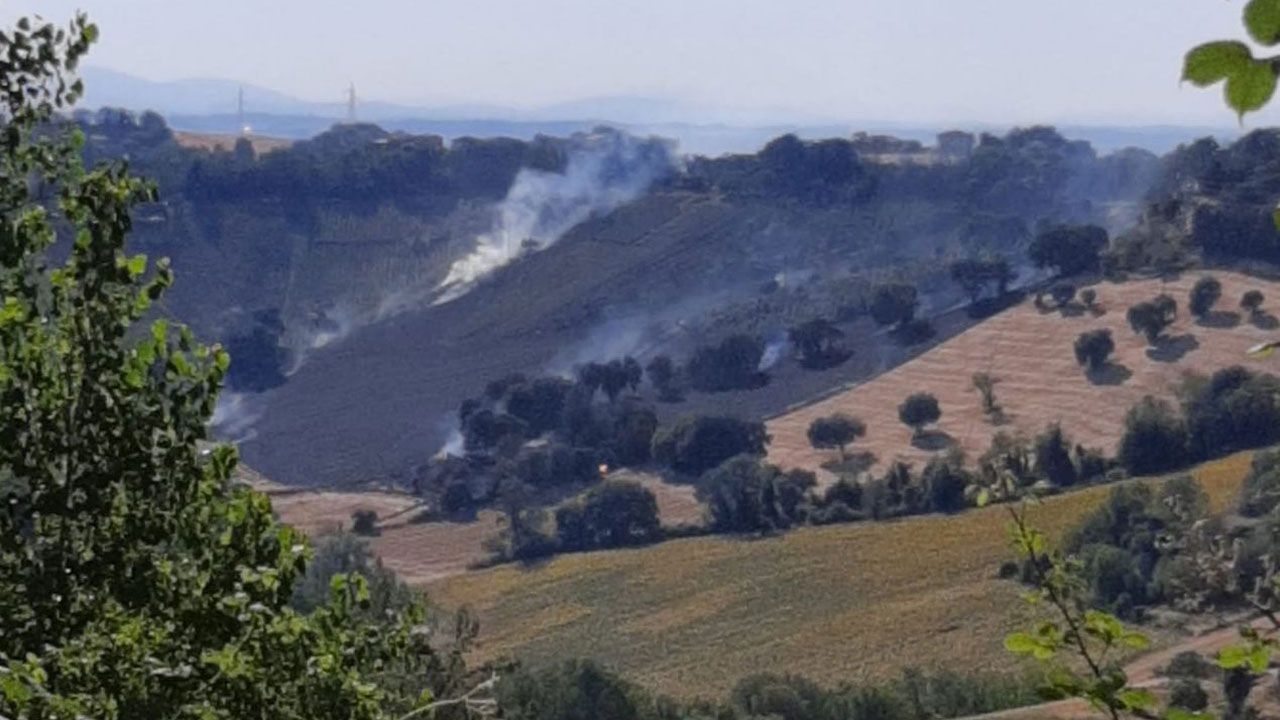 Incendio a Gallignano di Ancona