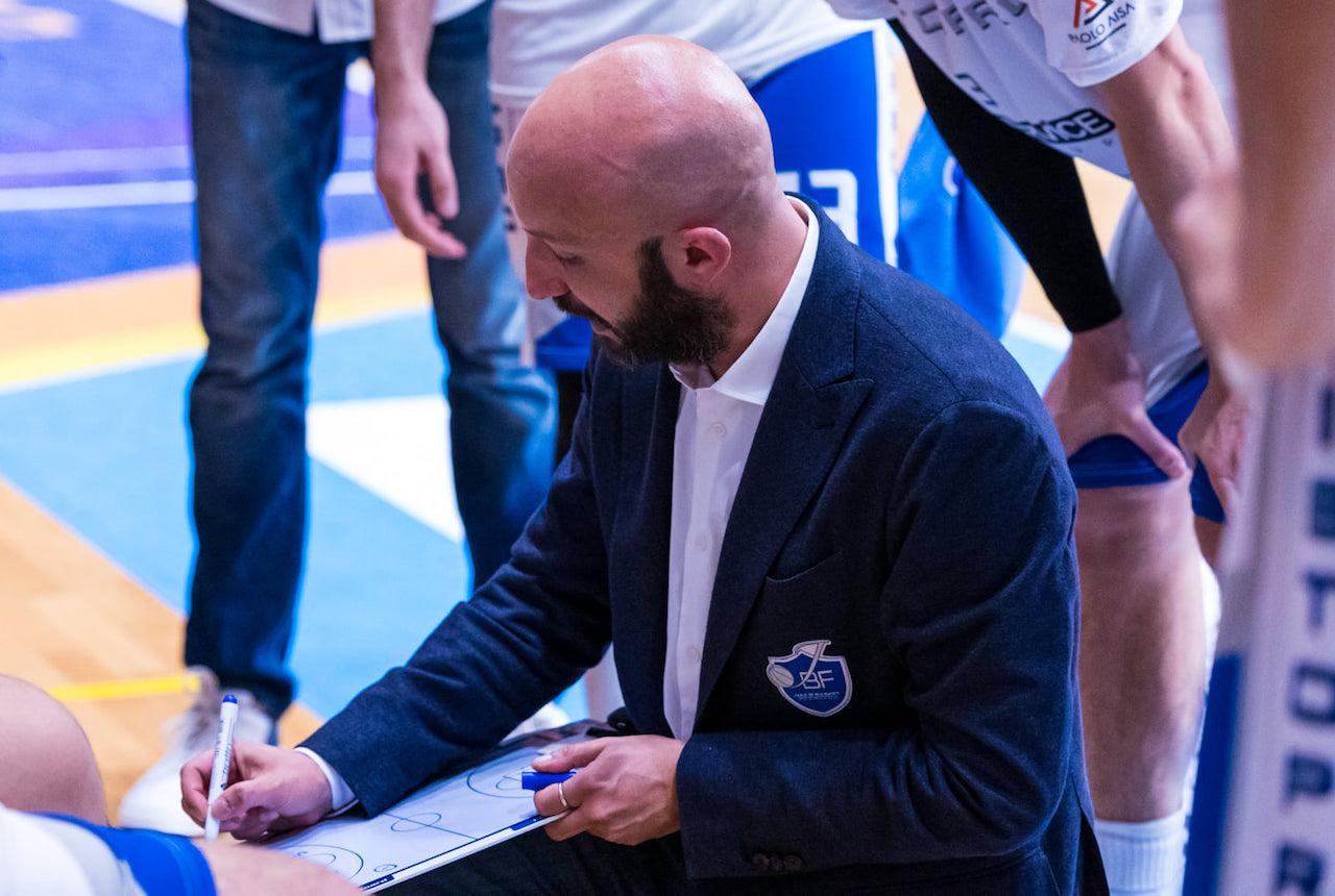 Lorenzo Pansa, allenatore della Ristopro Fabriano