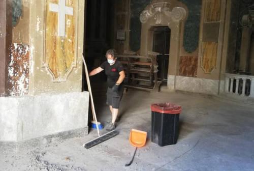 Chiesa della Misericordia di Osimo, al via le operazioni di pulizia prima del recupero
