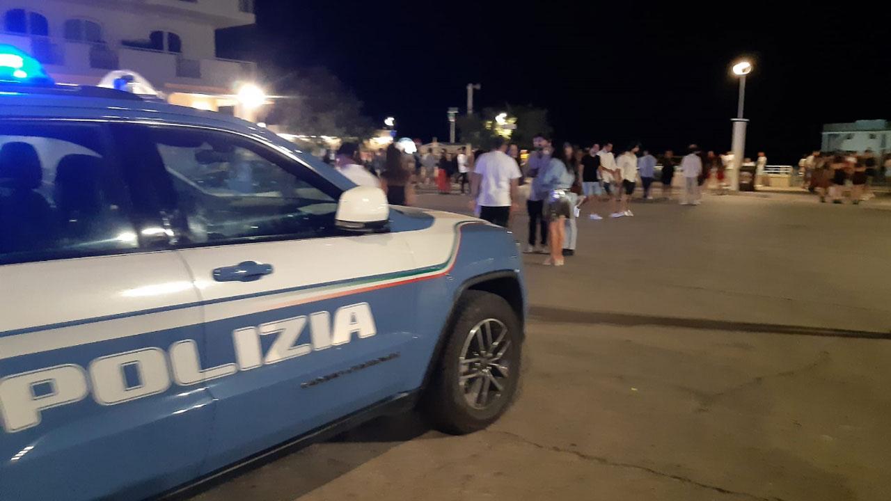 Polizia alla Rotonda di Senigallia