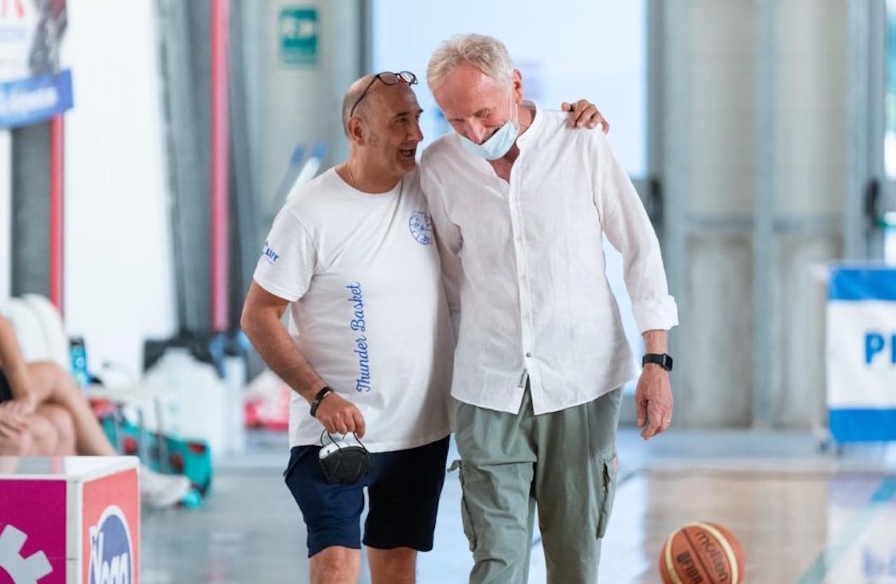 Piero Salari ed Euro Gatti, vice presidente e presidente della Thunder Basket