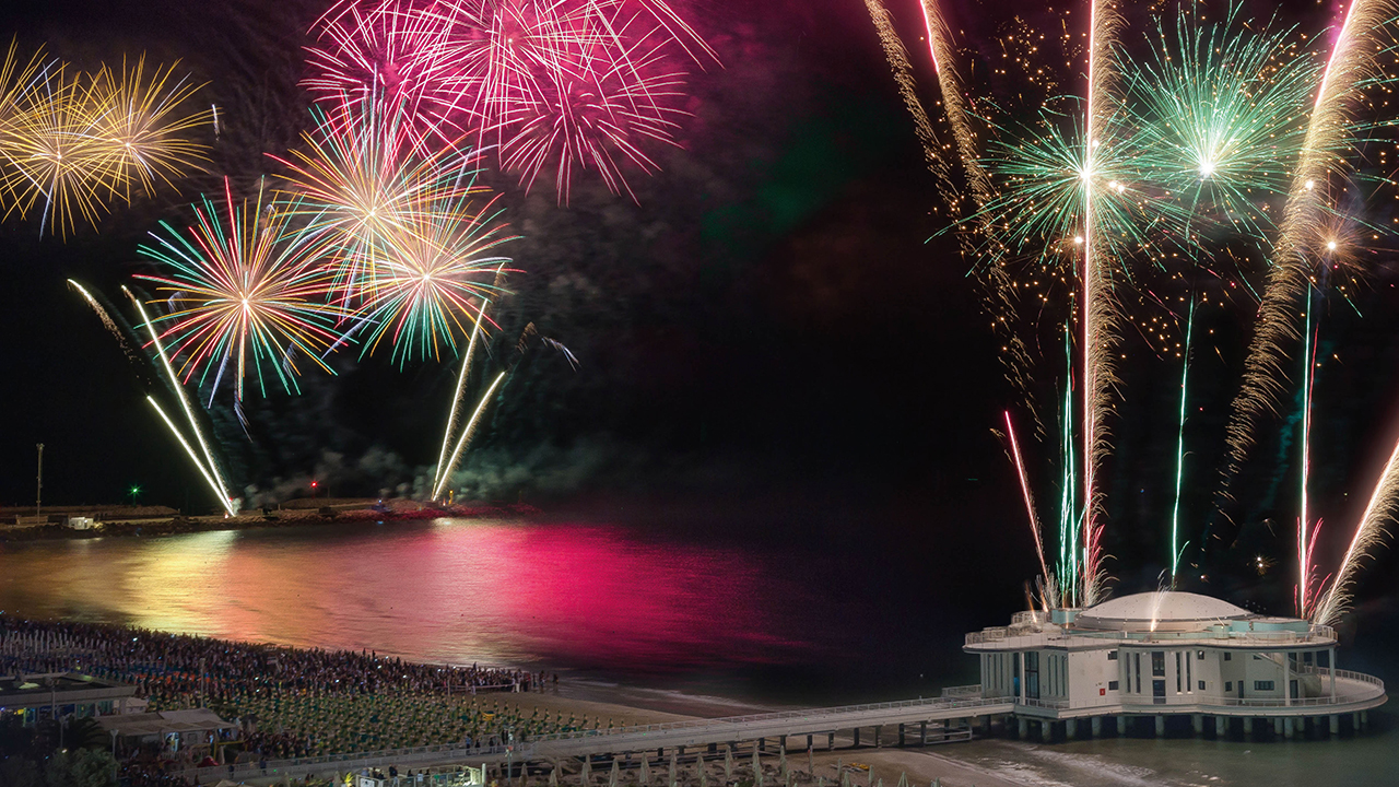 I fuochi d'artificio dell'estate 2018, foto da Comune di Senigallia