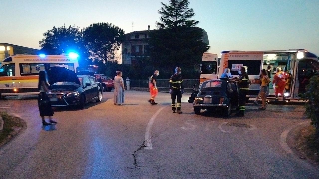 L'incidente a Pianello di Ostra: i soccorsi