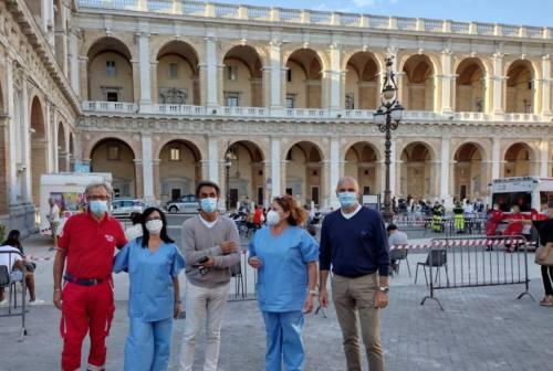 Camper vaccinale a Loreto, 130 le dosi somministrate