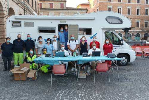 Camper vaccinale a Osimo, 133 le dosi somministrate