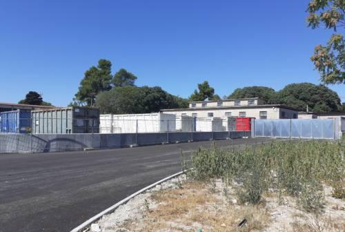 Jesi, Centro Ambiente: pronto il nuovo ingresso su viale Don Minzoni, ora l'illuminazione