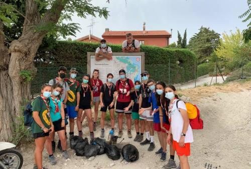 Parco del Conero, così gli scout di Filottrano puliscono i sentieri