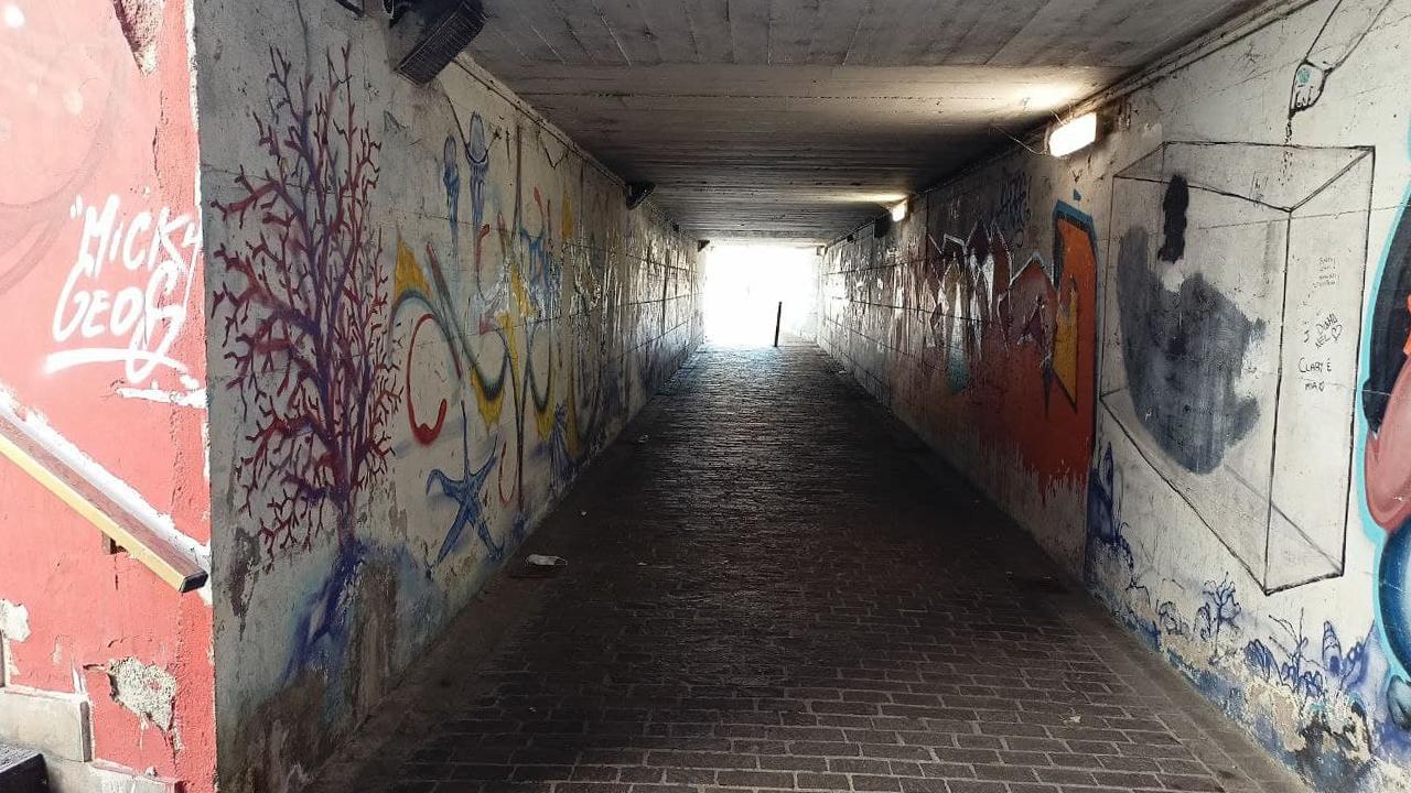 Il sottopasso di via Perilli a Senigallia