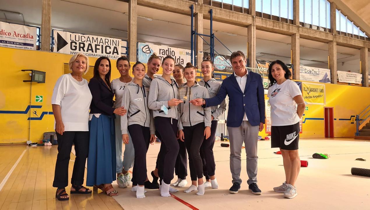 Le ginnaste dell'Aurora Fano premiate