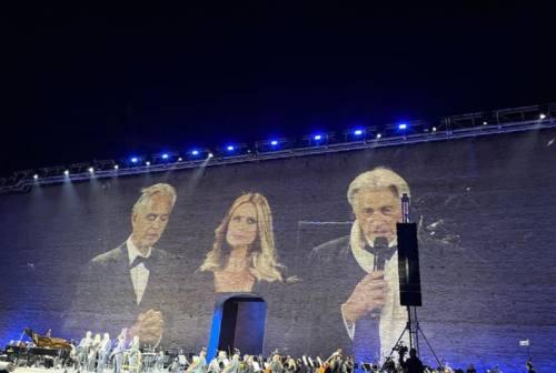 Macerata, musica con Bocelli allo Sferisterio. «Raccolti 300mila euro per la scuola di San Ginesio»