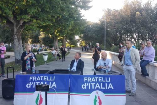 Castelfidardo, l'onorevole Francesco Lollobrigida in città a sostegno della candidata a sindaco Gabriella Turchetti