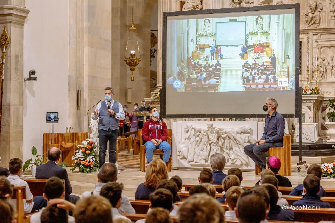 Carlo Macchini e Andrea Zorzi in Santa Casa a Loreto