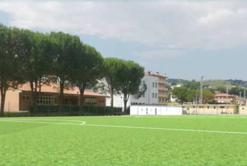 Castelplanio, ecco il nuovo campo da calcio in sintetico