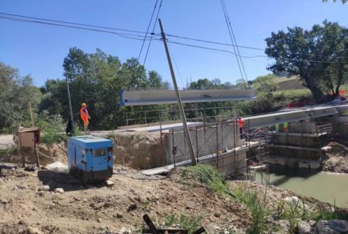 San Severino, lavori sulla provinciale 13. Cantiere per la messa in sicurezza del ponte