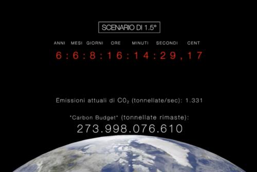 Sette anni per salvare la terra dalle emissioni C02: ecco il climate clock in piazza Mosca a Pesaro