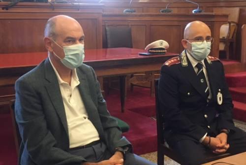 Il comandante della polizia locale Cristian Lupidi ai saluti: «Porto Jesi e questi tre anni nel cuore»