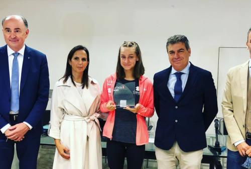 Fano la giunta ha celebrato il talento sportivo di Alice Pagliarini, neo campionessa italiana e under 18 più veloce d'Europa