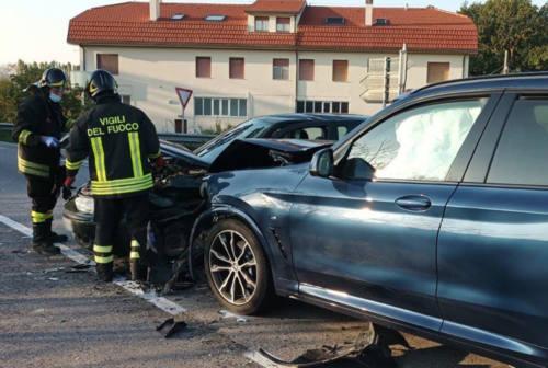 Incidente sulla provinciale Corinaldese, due automobilisti feriti a Senigallia