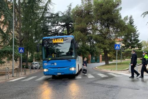 Macerata: investita dal bus, la simulazione sul luogo dell'incidente